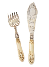 A PAIR OF VICTORIAN SILVER FIS