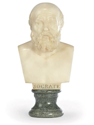 AN ITALIAN ALABASTER BUST OF S