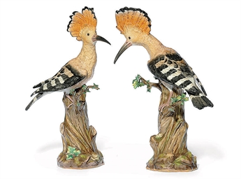 A PAIR OF MEISSEN MODELS OF HO