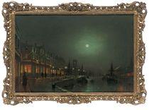 The dock in moonlight