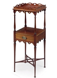 A VICTORIAN MAHOGANY TWO-TIER