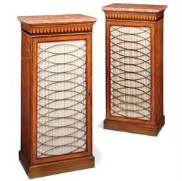 A PAIR OF REGENCY SATINWOOD AN