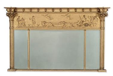 A REGENCY GILT FRAMED TRIPLE P