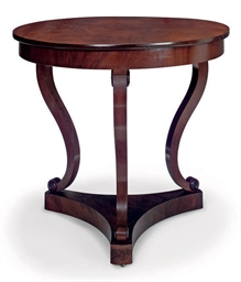 A DANISH MAHOGANY CENTRE TABLE