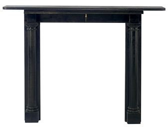 A WELSH SLATE CHIMNEYPIECE