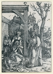 Christ taking leave of his Mot