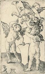 Three Genii (Bartsch 66, Holls
