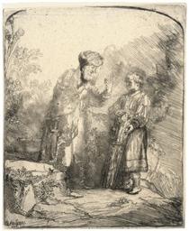 Abraham and Isaac (Bartsch, Ho