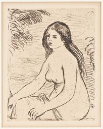 Femme nue assise (Delteil 12)