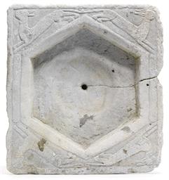 A GHAZNAVID WHITE MARBLE BASIN