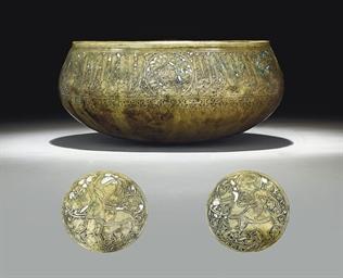 A MAMLUK GOLD AND SILVER-INLAI