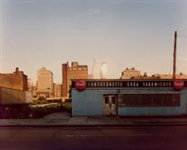Luncheonette, 12th Ave between 34th & 35th streets, New York City, 1978, from the series Empire State