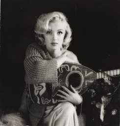 Marilyn Monroe with Mandolin,