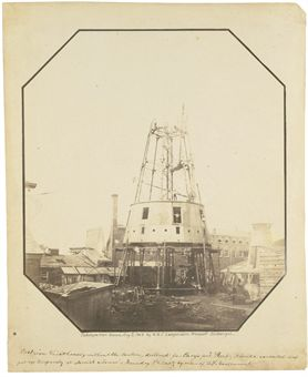 Cast-Iron Lighthouse under Construction, Carysfort Reef, Florida, August 2, 1849