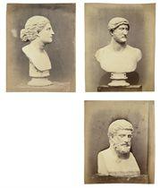 Roman busts, British Museum, c. 1857