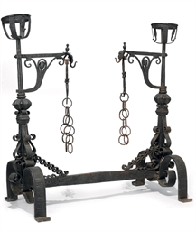 A WROUGHT-IRON DOUBLE ENDED FI