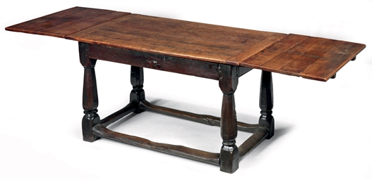 AN ELIZABETHAN WALNUT AND OAK