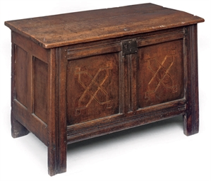 A CHARLES II OAK AND INLAID CH
