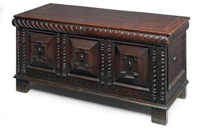 A LARGE CHARLES II OAK CHEST