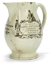 A WEDGWOOD CREAMWARE COMMEMORA