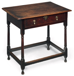 A QUEEN ANNE OAK SIDE TABLE
