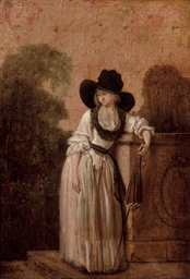 Portrait of a lady, full-lengt
