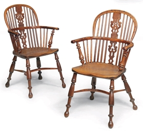 A PAIR OF GEORGE IV YEW-WOOD A