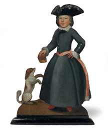 AN ENGLISH PAINTED WOOD DUMMY