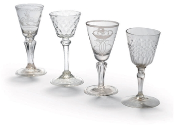 FOUR WINE GLASSES