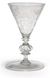 A DIAMOND-POINT-ENGRAVED WINE