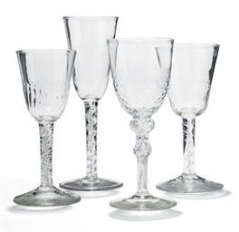 FOUR AIRTWIST DRINKING GLASSES