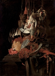 Still life of a dead pheasant
