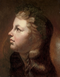 Head of a young girl with a wr