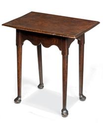 A GEORGE II ELM TABLE