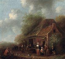 Peasants by an inn