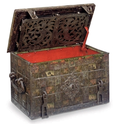 A GERMAN IRON 'ARMADA' CHEST