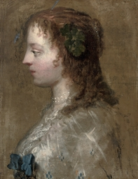 Profile portrait of a lady, bu