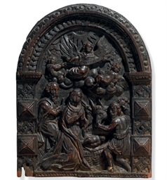 A FLEMISH OAK PANEL OF THE NAT