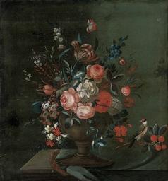 Roses, chrysanthemums, convolv