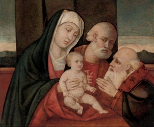 The Holy Family with a male sa
