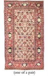 A PAIR OF AGRA RUGS