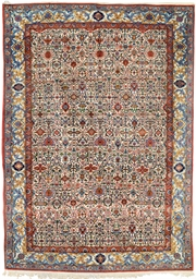 A PART-SILK QUM RUG
