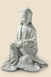 A BLANC DE CHINE FIGURE OF GUA