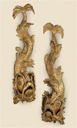 A PAIR OF GEORGE II GILTWOOD D