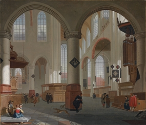 Interior of the Oude Kerk, Del