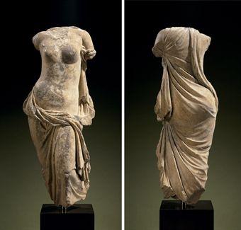 A GREEK MARBLE APHRODITE PONTIA-EUPLOIA