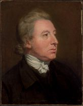 Portrait of a gentleman, traditionally identified as Edmund Burke (1729-1797), bust-length, in a black coat and white stock