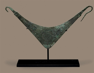 A GREEK BRONZE PECTORAL