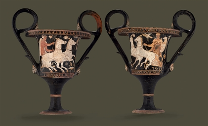 A PAIR OF APULIAN RED-FIGURED