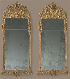 A PAIR OF DANISH GILTWOOD MIRR